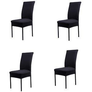 4-Pack Kitchen Dining Chair Cover Slipcover Black